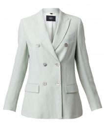 Mint Linen Double Breasted Blazer