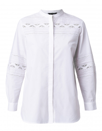 Tifenn White Embroidered Cotton Shirt