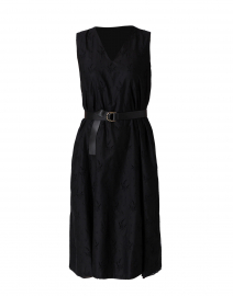 Suez Black Eyelet Cotton Dress