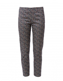 Monia Blue, Red, and White Dot Stretch Cotton Pant
