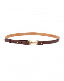 Brown Glazed Calf Leather Belt