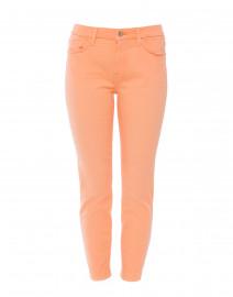 Orange Ankle Skinny Released Hem Jean