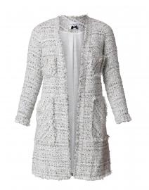 Grey and White Tweed Long Jacket