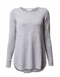 Light Grey Pleat Back Cashmere Sweater