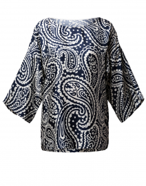 Nemila Navy and White Paisley Top
