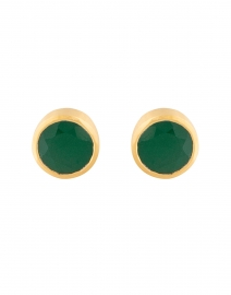 Green Onyx Signature Knockout Stud Earrings