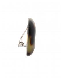 Pono by Joan Goodman - Lara Tortoise Resin Clip Earrings