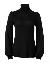 Kizzy Black Fine Merino and Velvet Sweater