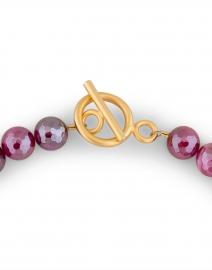 Deborah Grivas - Magenta and Gold Nugget Beaded Necklace
