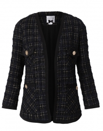 Black and Navy Tweed Jacket