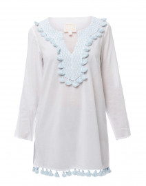 White Embroidered Cotton Tunic Top