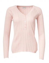 Light Pink Cotton Cashmere Ribbed Top