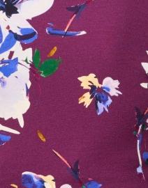 Smythe - Plum Floral Stretch Turtleneck Top