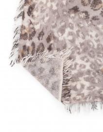 Kinross - Brown Animal Print Cashmere Scarf