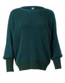 Hunter Green Cotton Accordion Sweater