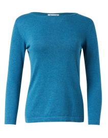 Inlet Blue Pima Cotton Boatneck Sweater