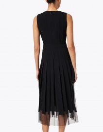 BOSS Hugo Boss - Divoby Black Midi Sleeveless Dress with Tulle Underlay