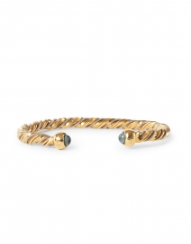 Gold and Silver Intertwined Braided Cuff Bracelet