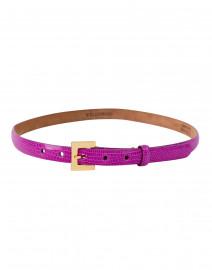 Azalea Pink Lizard Skin Belt