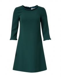 Erin Dark Emerald Wool Crepe Dress
