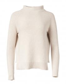 Beige Garter Stitch Cotton Sweater