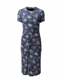 Enice Navy Printed Sheath Dress
