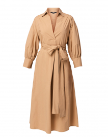 Beige Stretch Cotton Dress