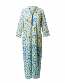 Asha Lime and Blue Gana Print Cotton Kurta