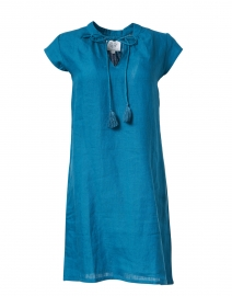 Dark Teal Linen Dress