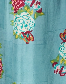 Lisa Corti - Radha Peacock and Floral Print Silk Kaftan