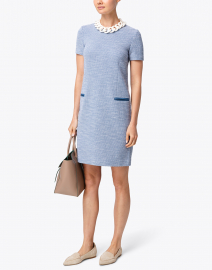 Cadel Blue and White Knit Dress