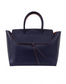 Loren Navy Leather Tote