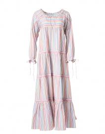 Rainbow Stripe Cotton Dress