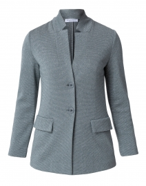 Due Grey Silver Knit Blazer