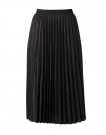 Black Lurex Pleated Pull-On Skirt