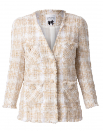 Beige and White Tweed Jacket