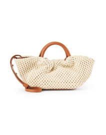 Mini Los Angeles Natural Crochet and Leather Bag