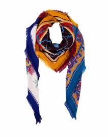 Multi-Print Silk Twill Square Scarf