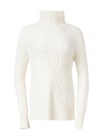 Ecru Cable Cashmere Sweater