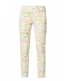 Multicolored Floral Paisley Print Control Stretch Pull On Pant