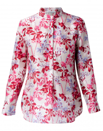 Pink and Red Floral Print Shirt
