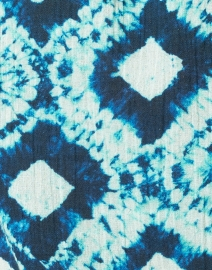 Figue - Fabiana Indigo Diamond Print Cotton Top