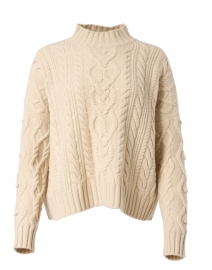 Ermes Ivory Cable Knit Sweater