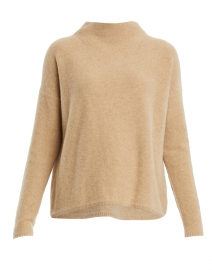 Beige Boiled Cashmere Sweater