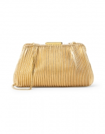 Mini Florence Gold Pleated Clutch