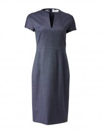 Daseia Navy and Black Mini Check Sheath Dress