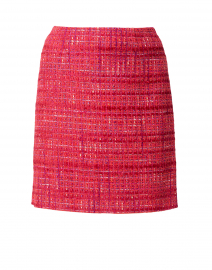 Cranberry Tweed Skirt