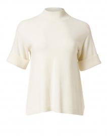 Ivory Stretch Wool Sweater