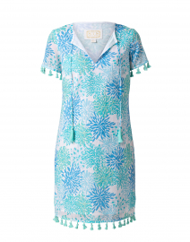 Blue Water Hues Coral Printed Cotton Tunic