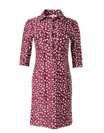 Sloane Merlot Spot Print Shirt Dress